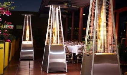 Dubai pyramid patio outdoor heaters